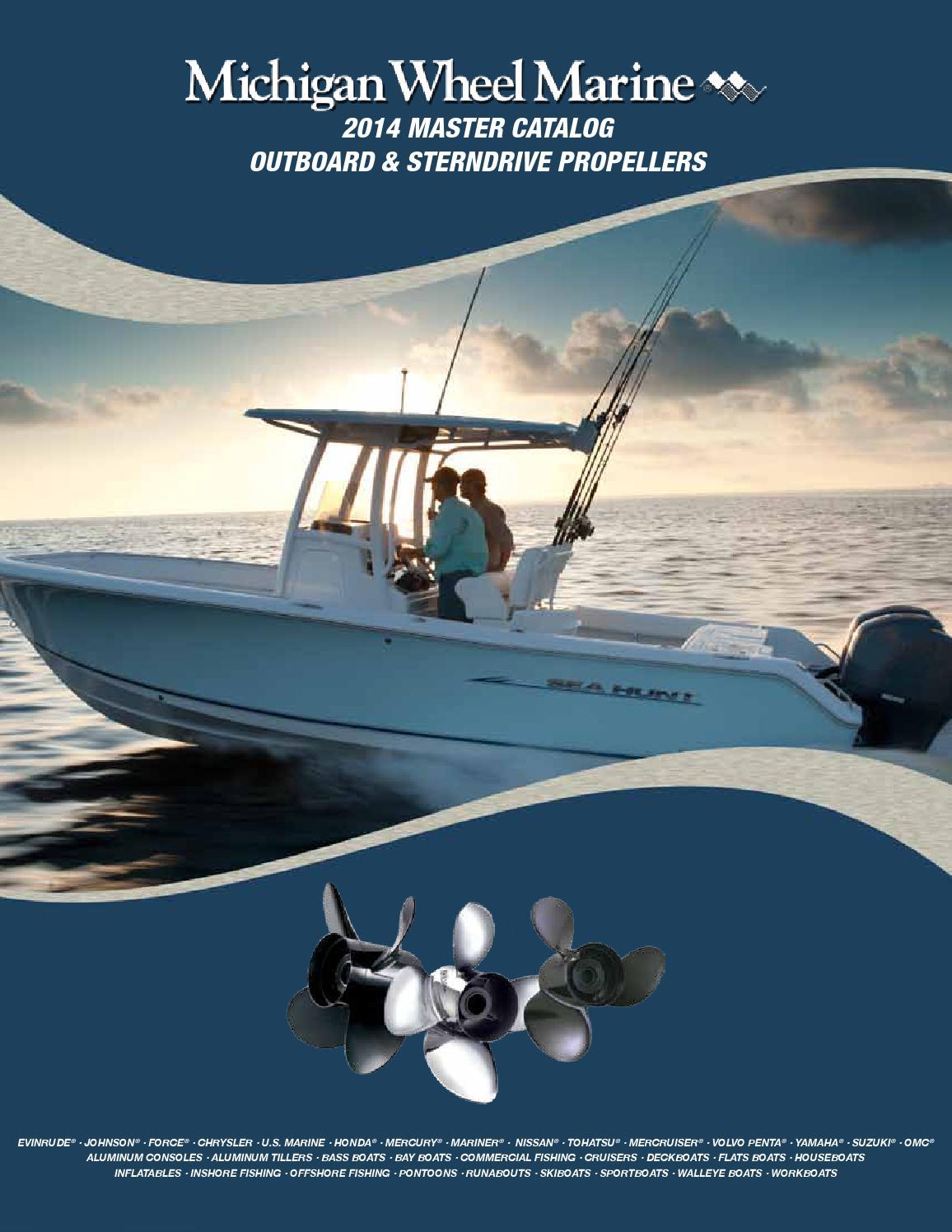 2014 Michigan Wheel Obsd Propeller Catalog By Titan Marine Issuu 2000 Yamaha T50 Outboard Wiring