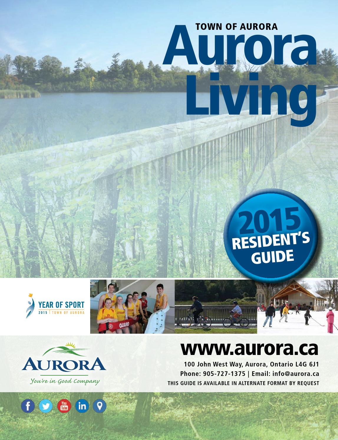 2015 Aurora Living Resident's Guide by Town of Aurora - issuu