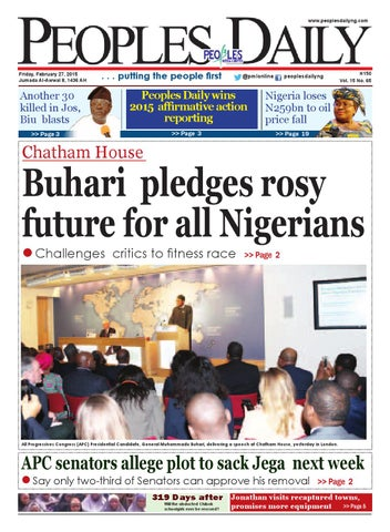 Friday February 27, 2015  Edition  by Peoples Media Limited - issuu