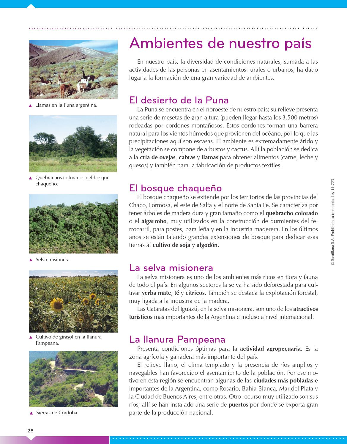 Biarea sociales lengua 6 nacion 2014 print by mar a for Ambientes de argentina
