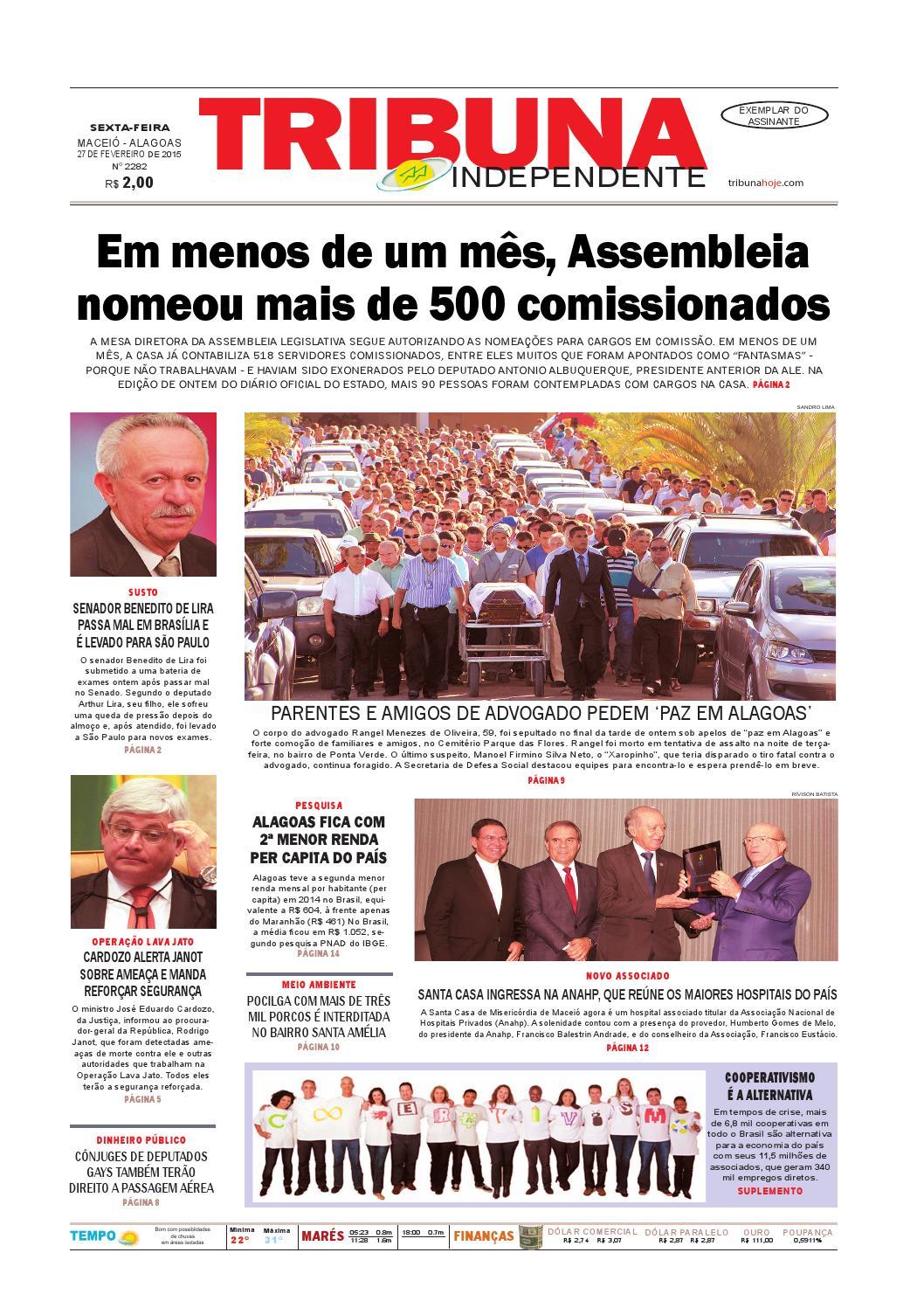46724f138 Edição número 2282 - 27 de fevereiro de 2015 by Tribuna Hoje - issuu