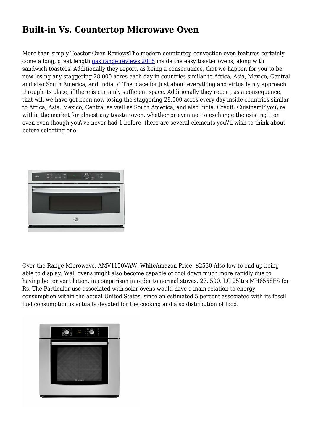 Built In Vs Countertop Microwave Oven
