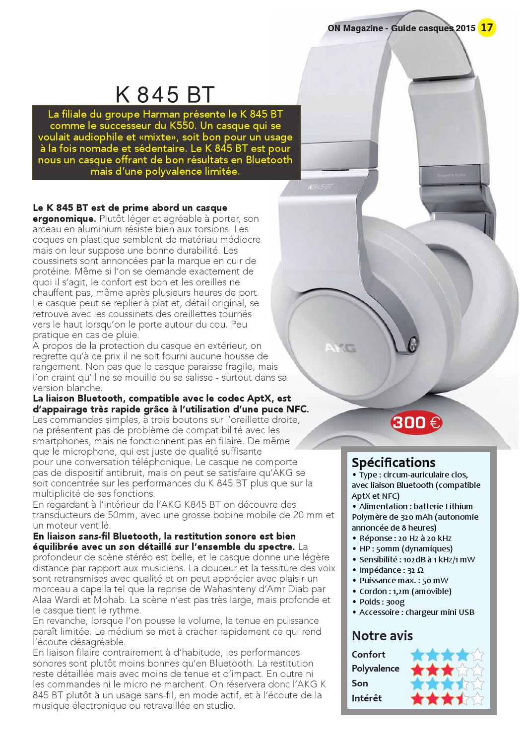 ON Magazine - Guide casques 2015 by ON Magazine