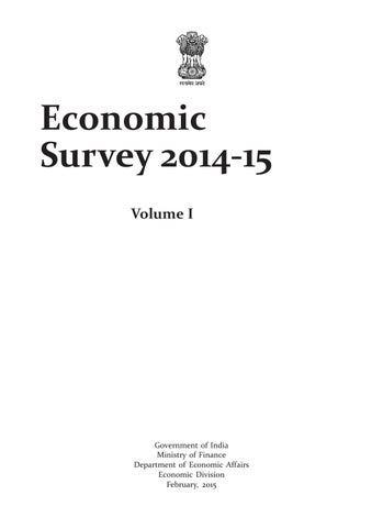 Economic survey 2014 2015 by amit mathur issuu page 1 publicscrutiny Choice Image