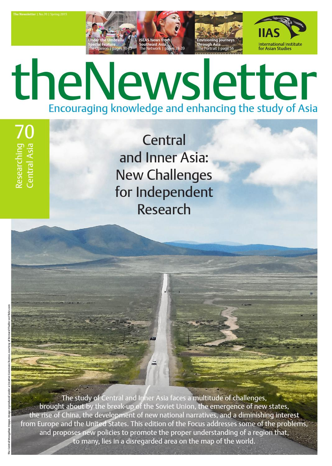 The Newsletter 70 Spring 2015 by International Institute for Asian