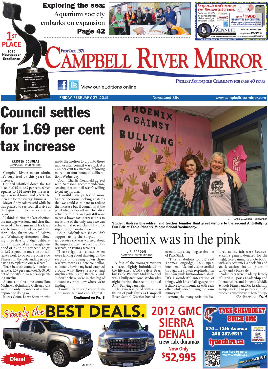 Campbell River Mirror February 27 2015 By Black Press Issuu