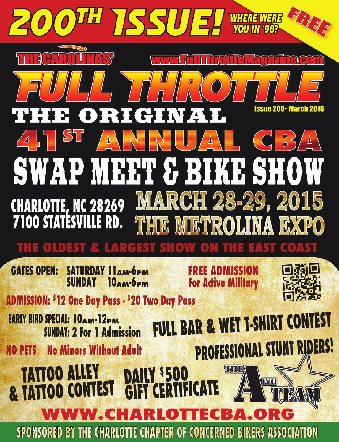 March 2015 issue 200 by the carolinas 39 full throttle - Cruisin carolina magazine ...