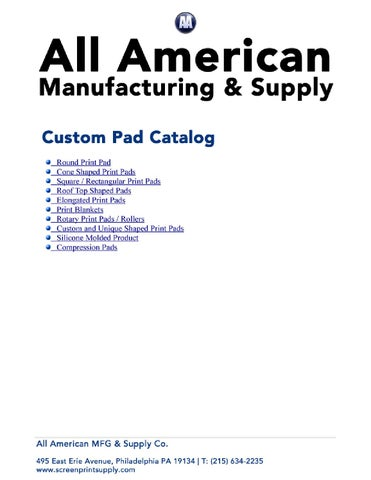 All American Custom Pad Catalog 2015 by All American MFG