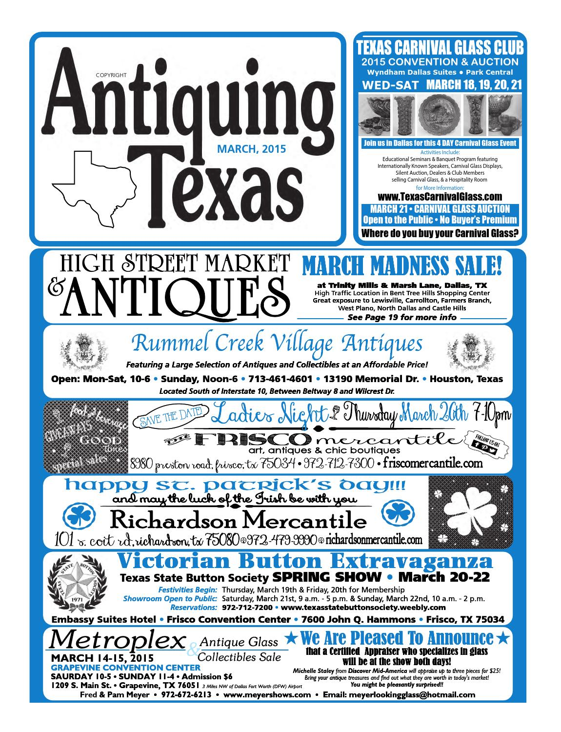 Ant tx upload 3 15 by Antiquing Texas - issuu
