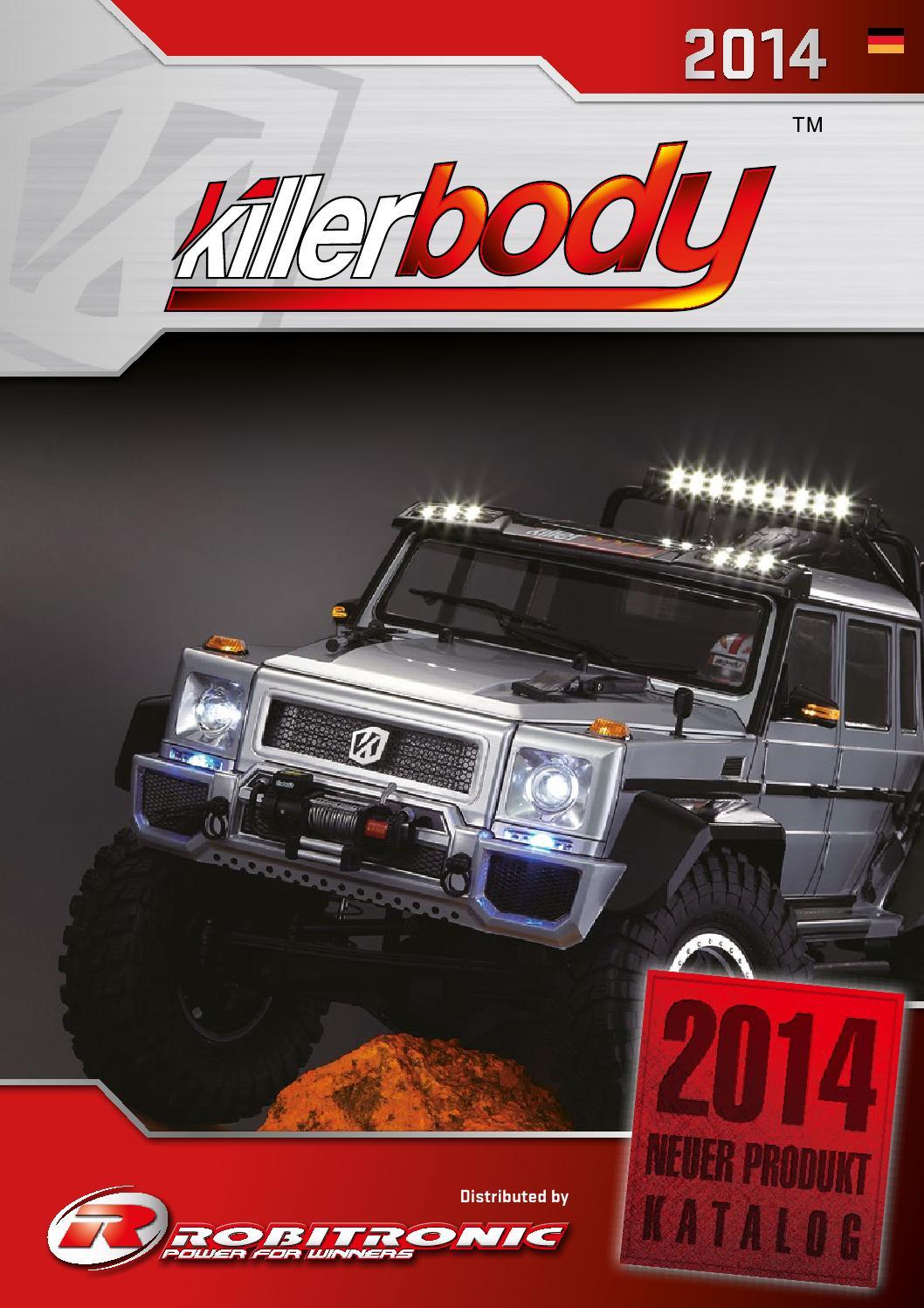 KB48055 Killerbody 1//8 Racing Body for MBX-6 Klar