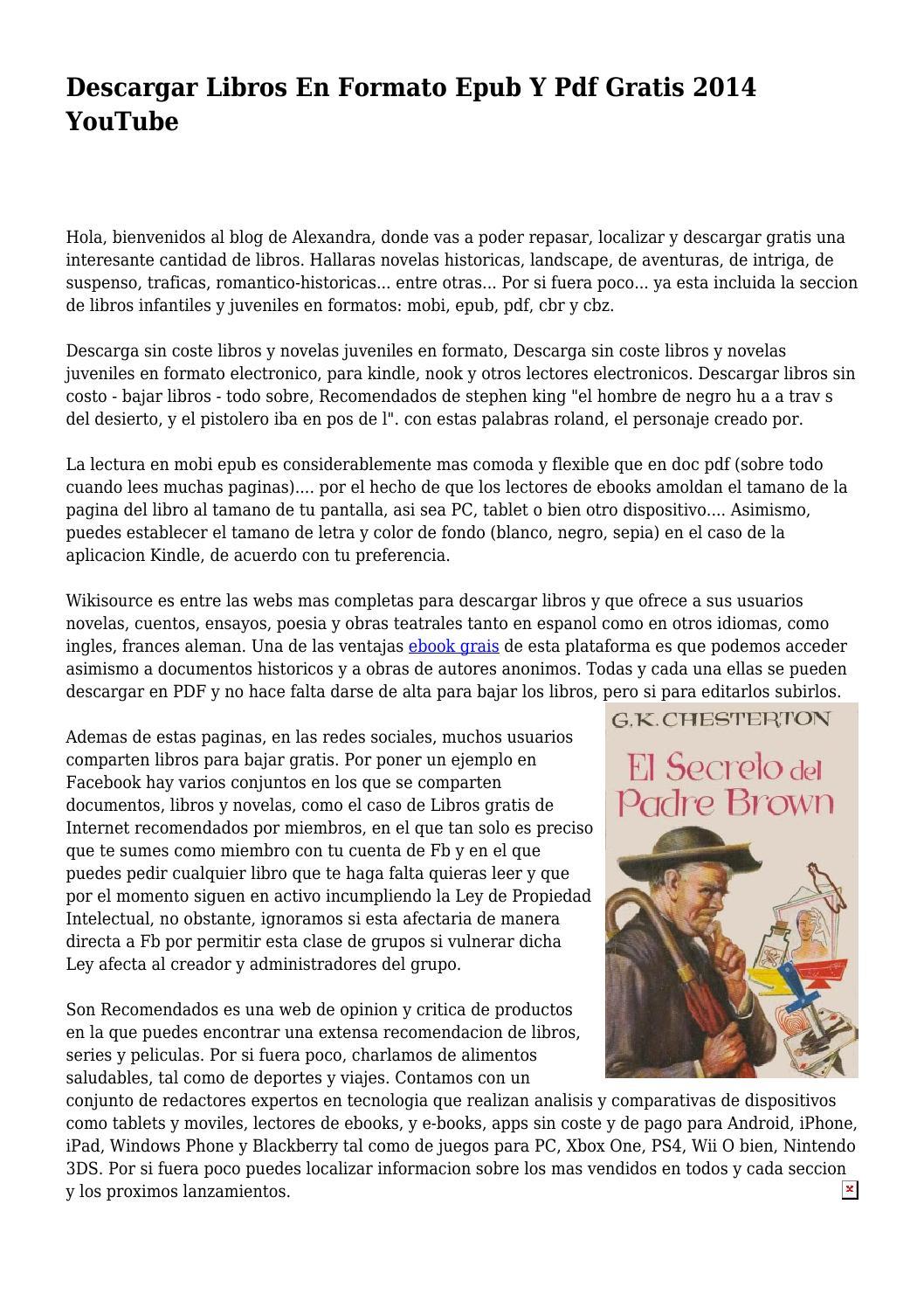 Descargar Libros En Formato Epub Y Pdf Gratis 2014 Youtube By Moaningcan6499 Issuu