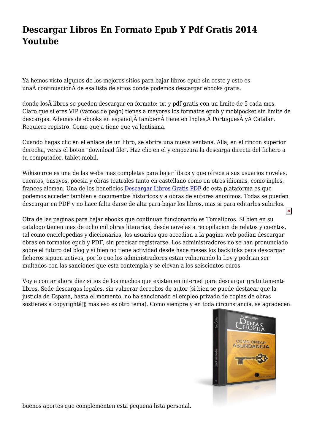 descargar ebooks epub en ingles