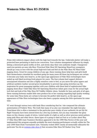 Page 1. Womens Nike Shox R5 ZS5816