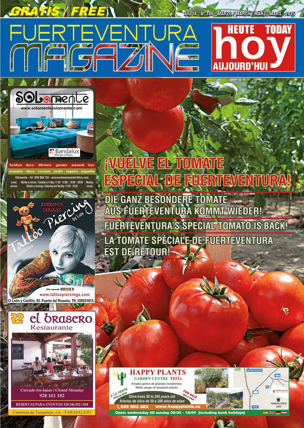 Fuerteventura Magazine Hoy N 106 Marzo 2015 By  # Muebles Ojeda Corralejo