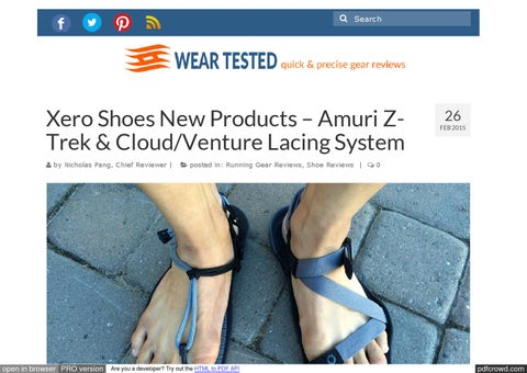 a760805940bc Page 1.  Search. Xero Shoes ...