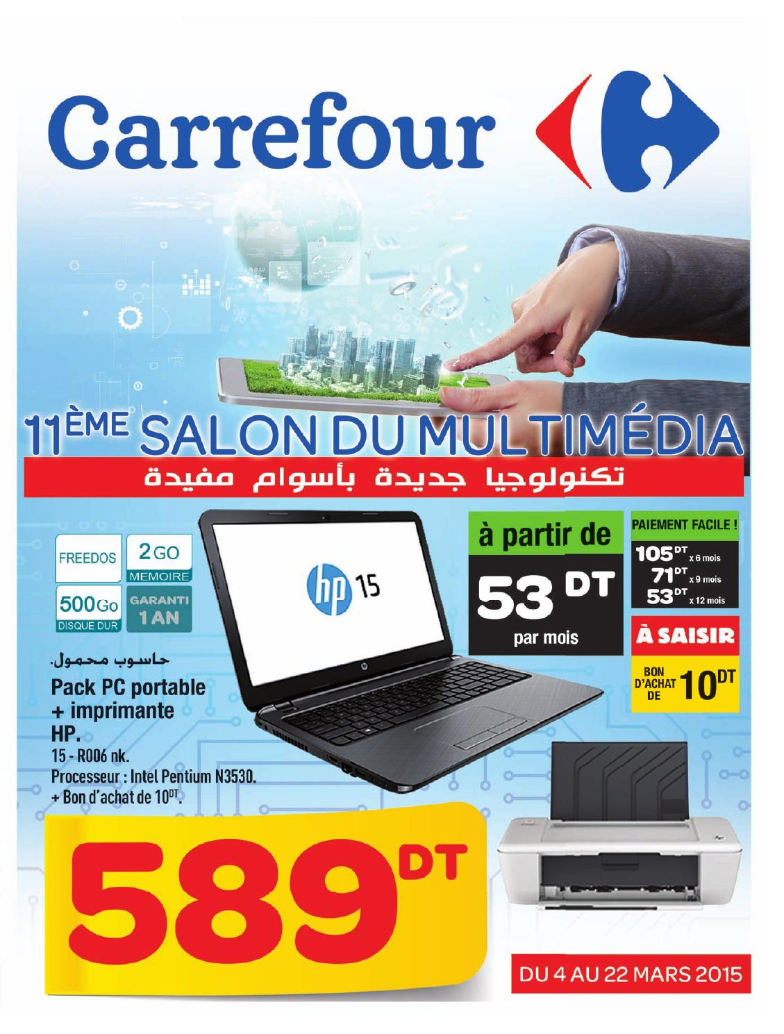 catalogue carrefour salon informatique et multimedia by carrefour tunisie issuu. Black Bedroom Furniture Sets. Home Design Ideas