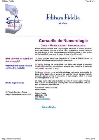 site- ul bazat pe numerologie
