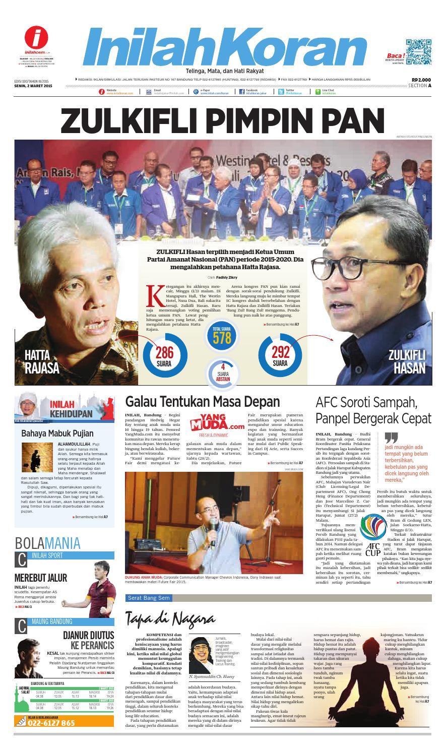 Zulkifli Pimpin Pan By Inilah Koran Issuu Tcash Vaganza 36 Produk Ukm Bumn Batik Print Motif3