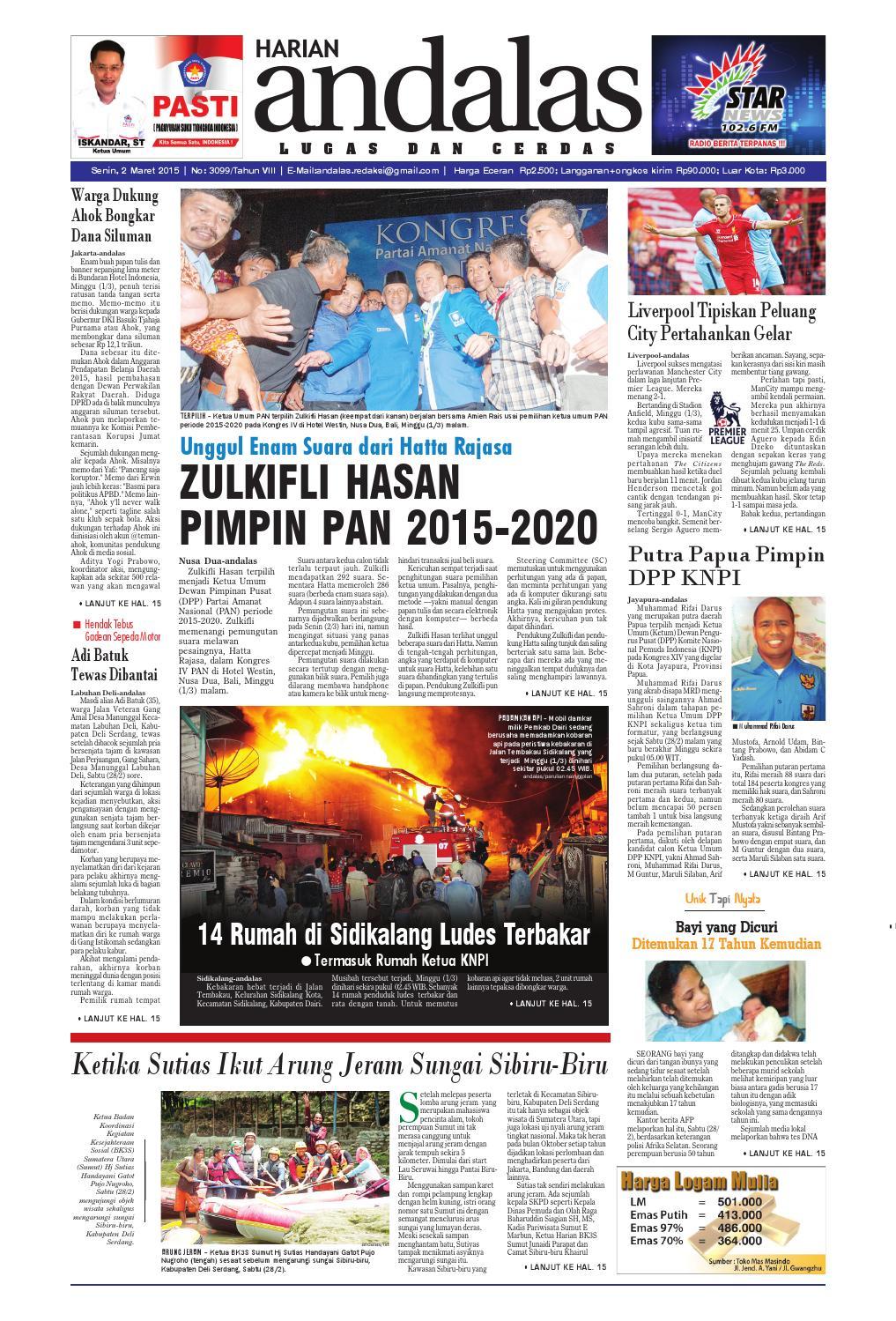 Epaper andalas edisi senin 2 maret 2015 by media andalas - issuu 72d4d33761