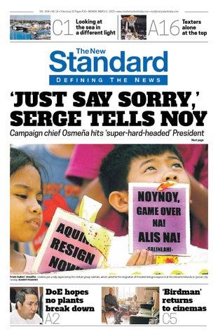 6e6abb83ad The Standard - 2015 March 02 - Monday by Manila Standard - issuu