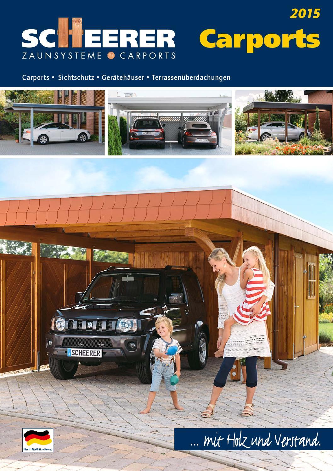 Scheerer Carports 2015 by Opus Marketing GmbH issuu