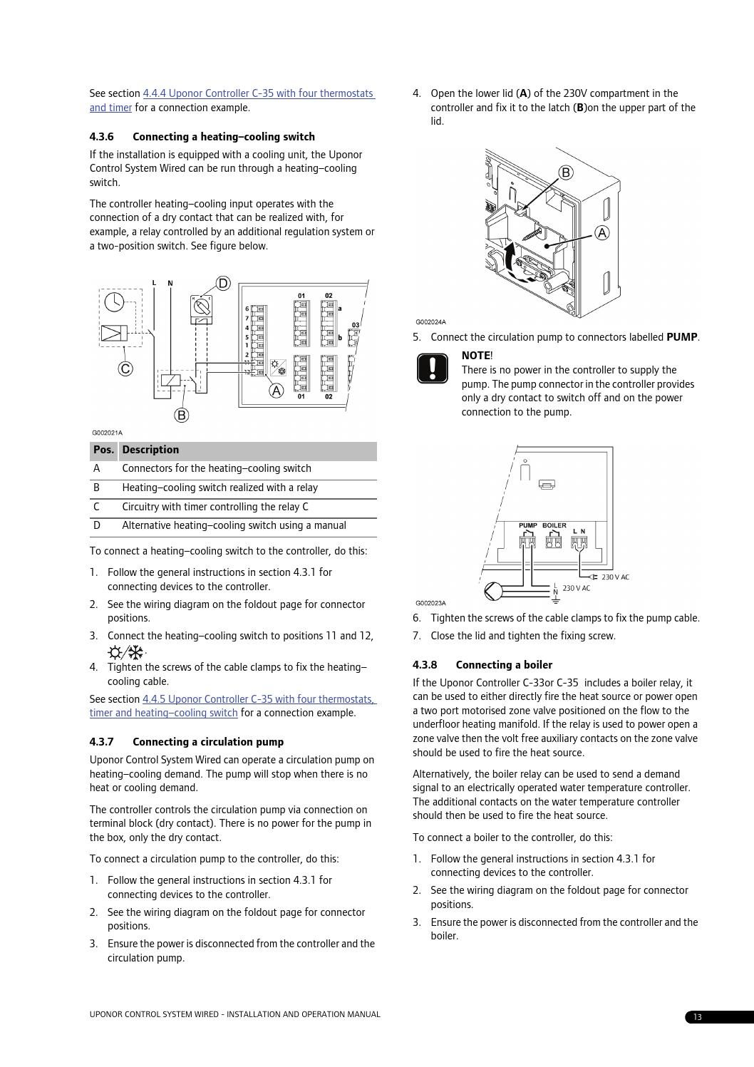 C35 Manual By Uponor Uk Issuu Heating Cooling Wiring Diagram