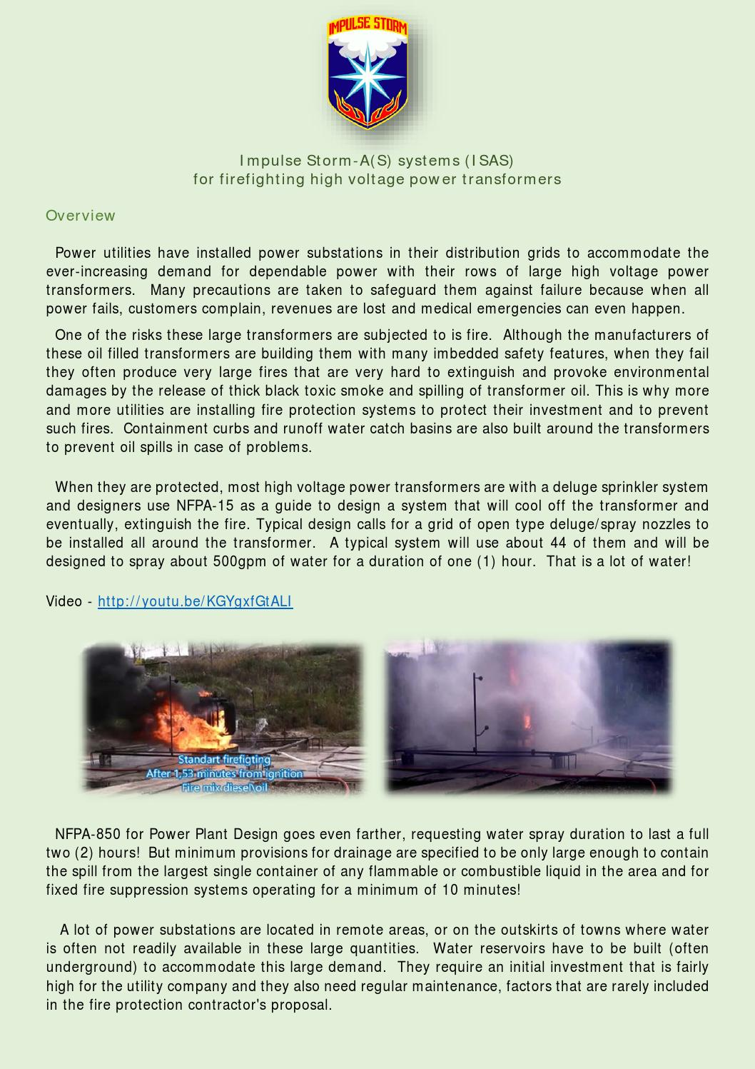 Transfromer Firefighting Proposal By Impulse Storm Issuu