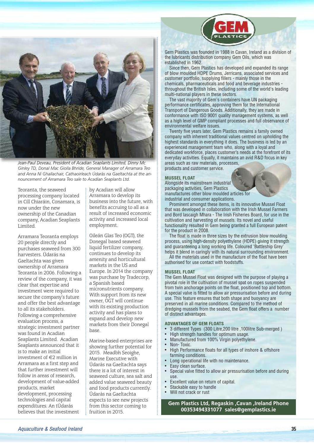 Aquaculture & seafood ireland yearbook 2014 by Inshore