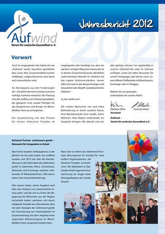 Aufwind Jahresbericht 2012 by FRIENDS IN BOX - issuu