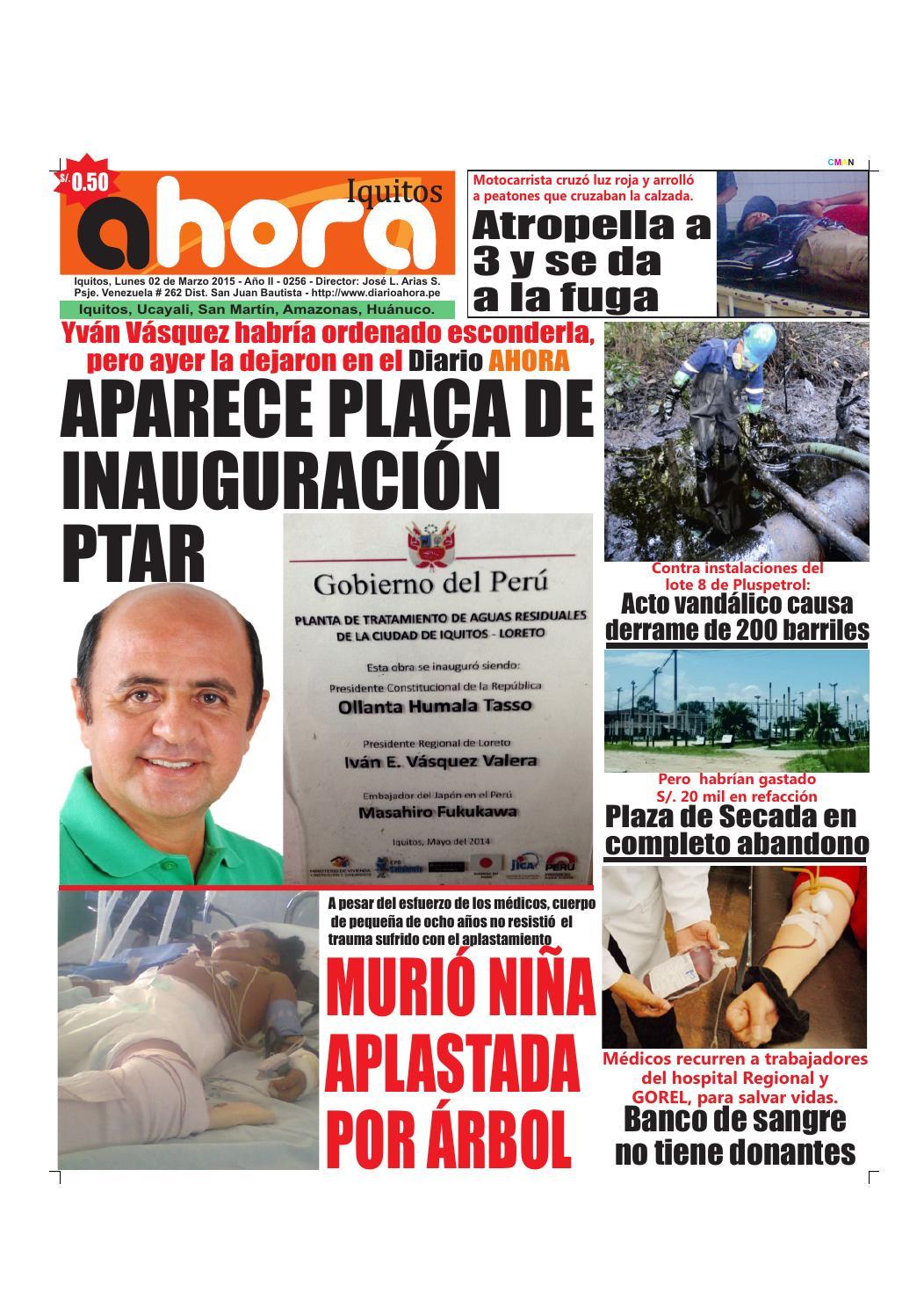 1c9d081632 02 03 15 diario ahora iquitos by Jonatan Arias - issuu