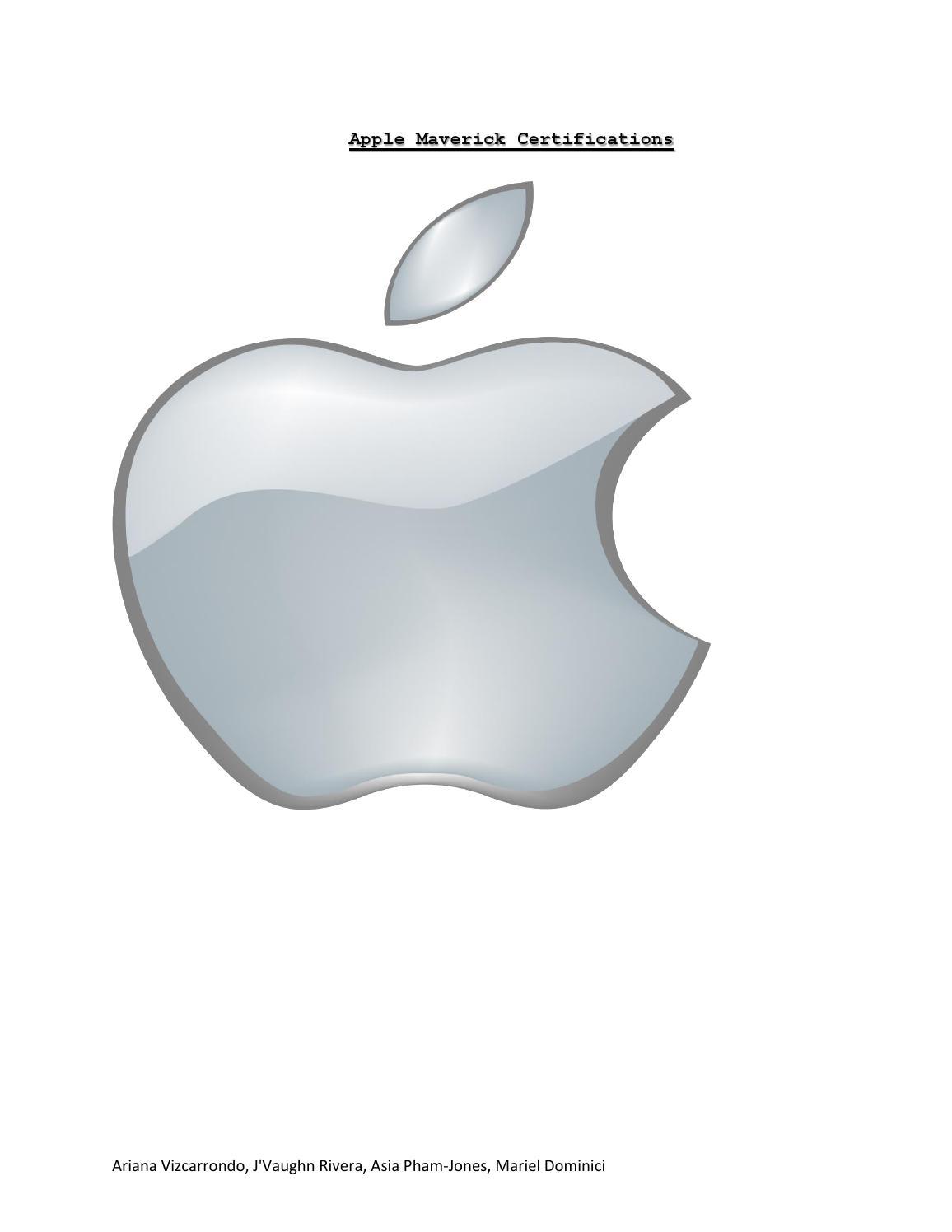 Apple Maverick Certications By Arianaviz Issuu