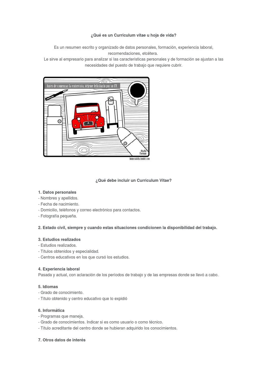 Qué es un curriculum vitae ? by evangelinatobaldi - issuu
