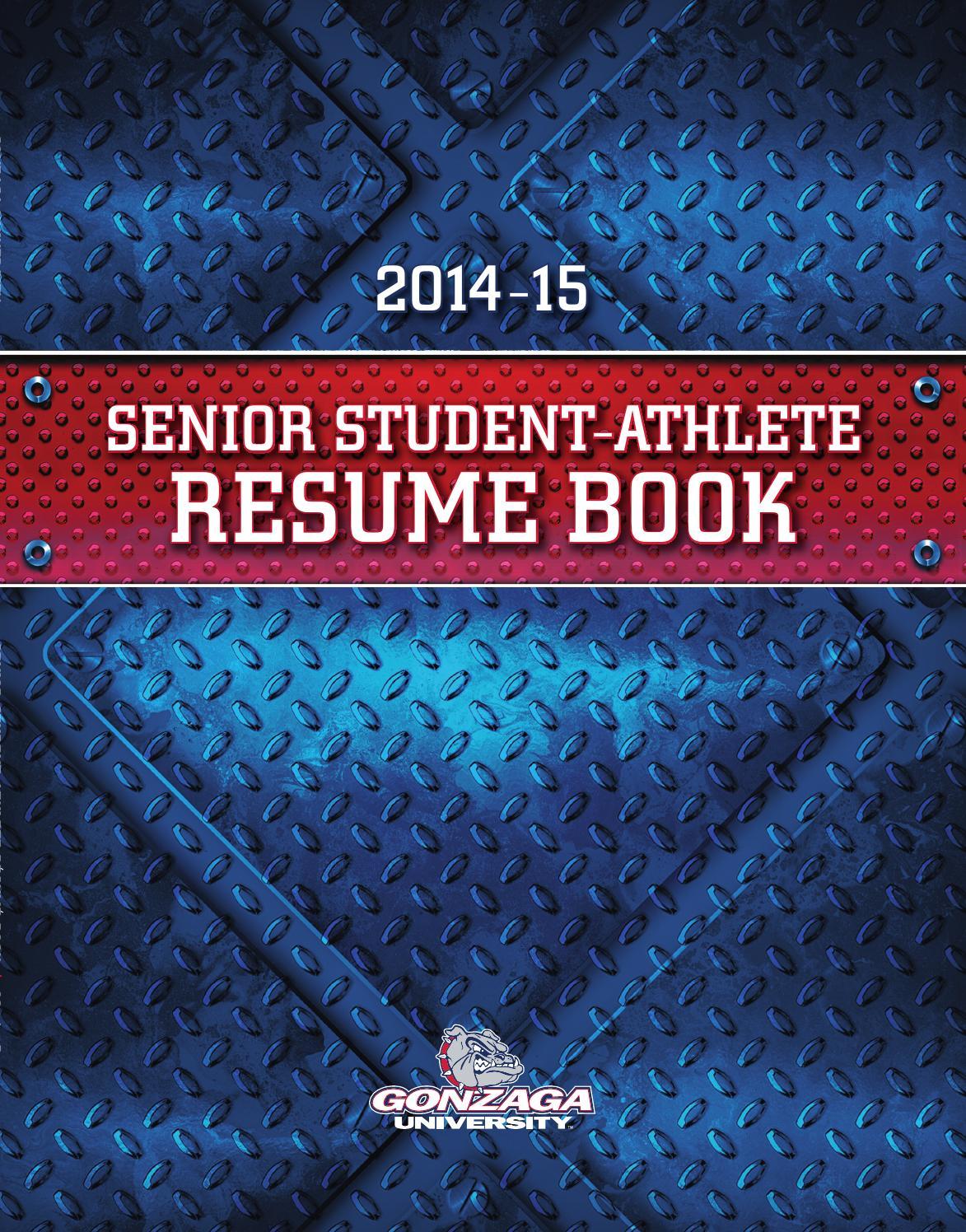 Gonzaga University Senior Student Athlete Resume Book 2015 By