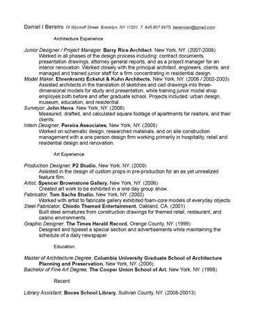 Daniel I Berens Resume Samples By Daniel Ian Berens Issuu