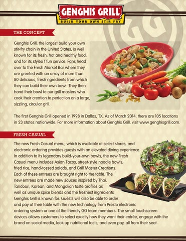 Genghis Grill The Mongolian Barbeque By Jeri Ana Smith Issuu