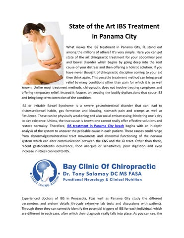 State Of The Art Ibs Treatment In Panama City By Bay Clinic Of