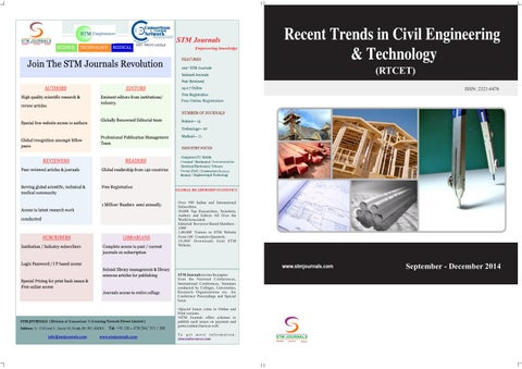 Recent trends in civil engineering & technology (vol4, issue3) by