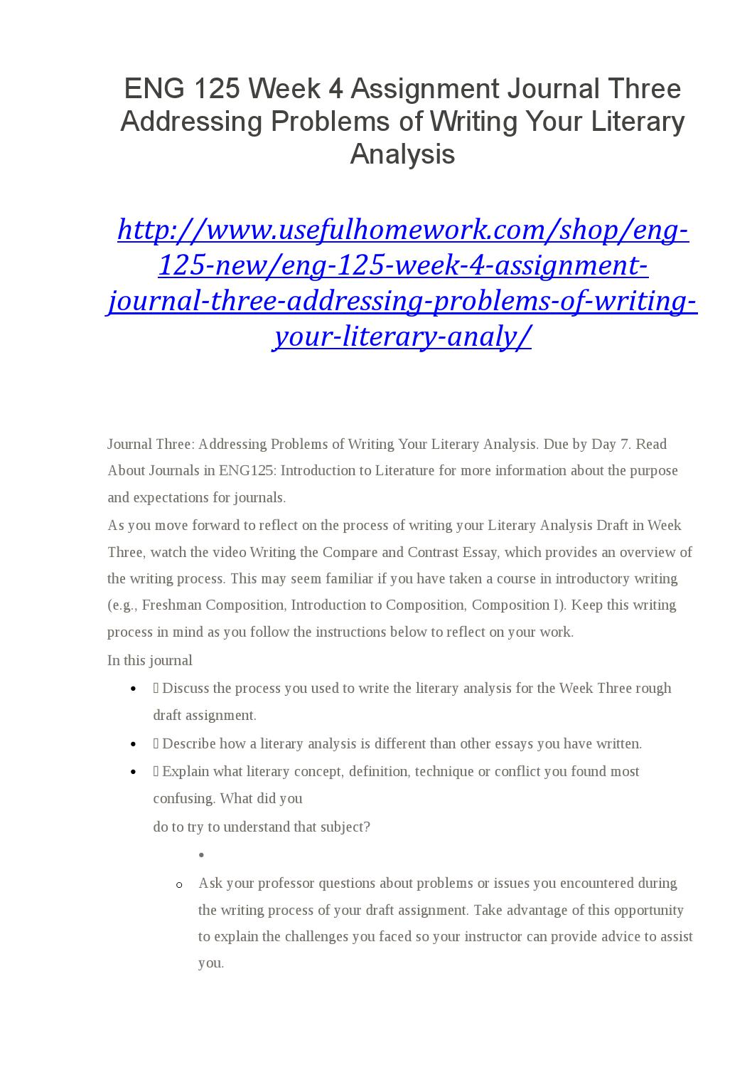 literary log essay What is the main purpose of a thesis statement in a literary analysis essay ato briefly state the author's purpose for writing the text you are analyzing.