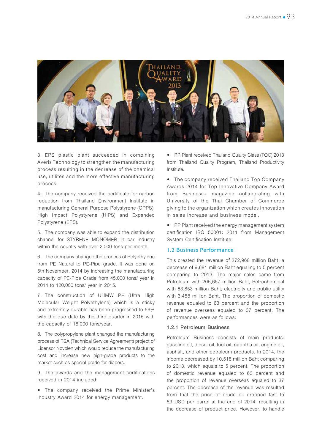 Irpc Annual Report 2014 By Orapan Shareinvestor Issuu
