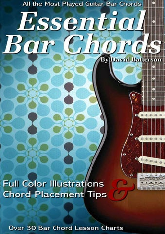 Essential Guitar Bar Chord Lessons Charts 35 Bar Chord Power