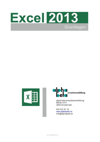 Excel 2013 grundlagen by alphabeta - issuu