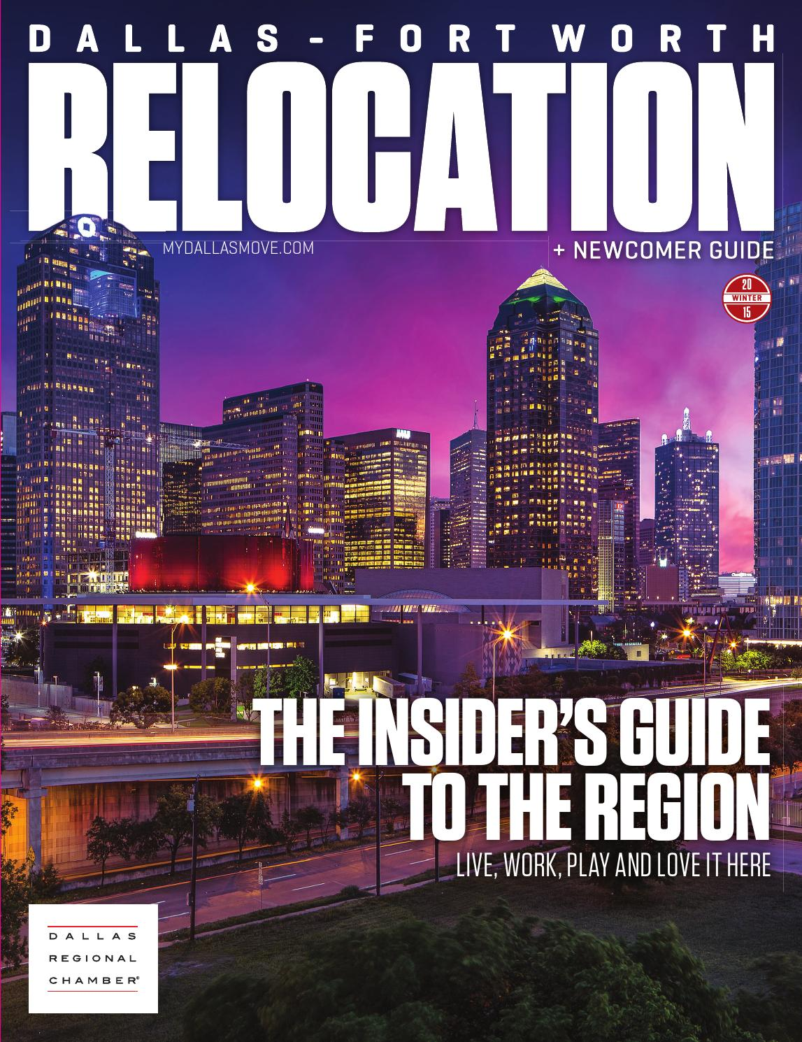 Dallas fort worth relocation newcomer guide winter 2015 by dallas regional chamber publications issuu