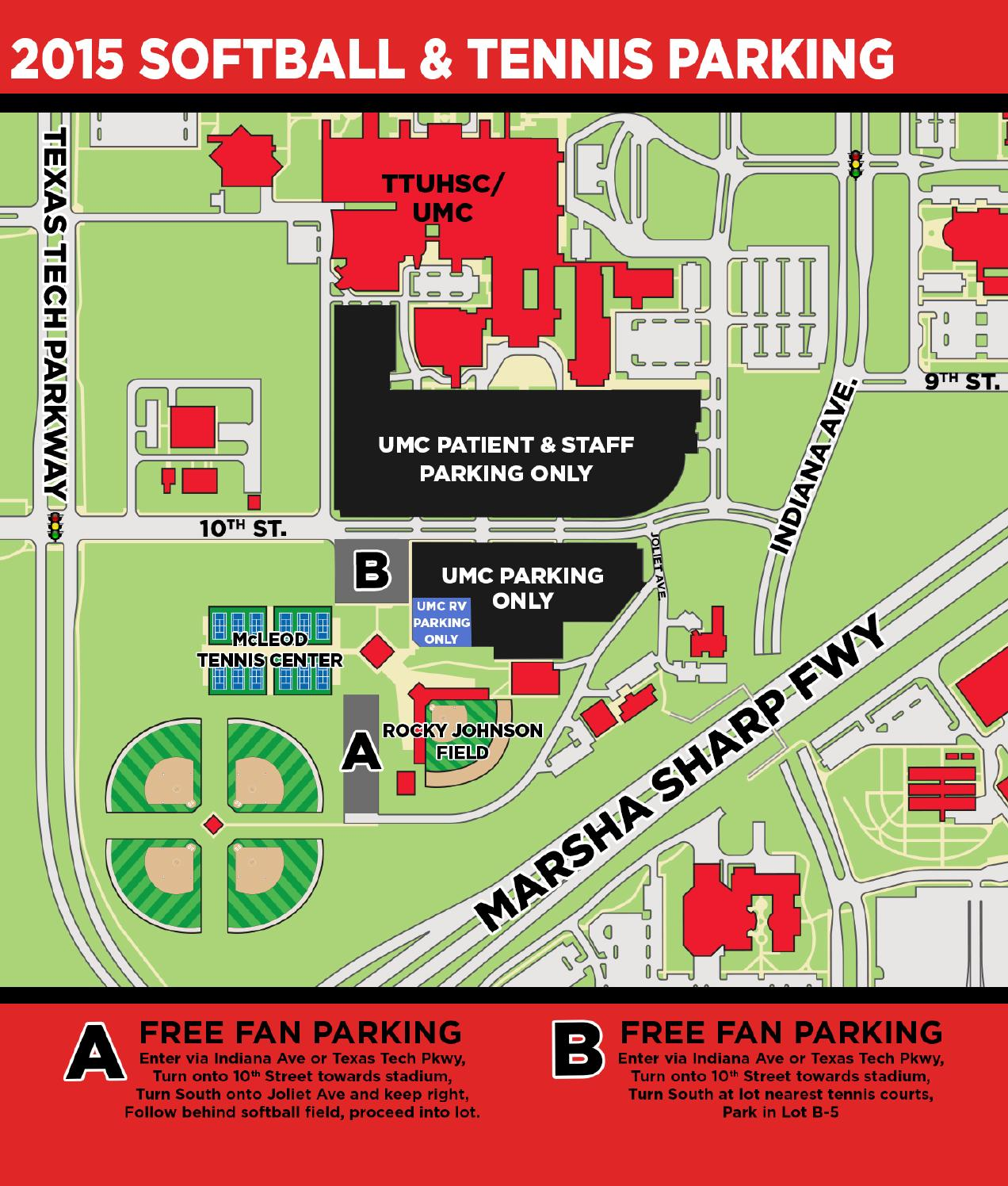 2015 Texas Tech Softball/Tennis Parking Map by Texas Tech Athletics ...