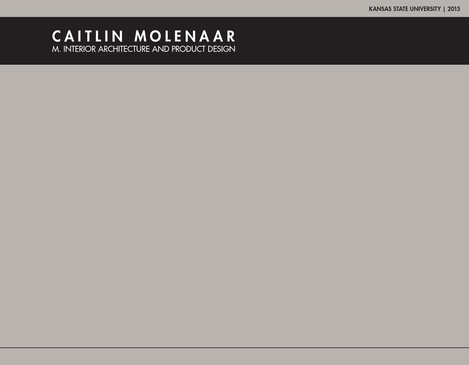 Caitlin Molenaar Interior Architecture Portfolio By