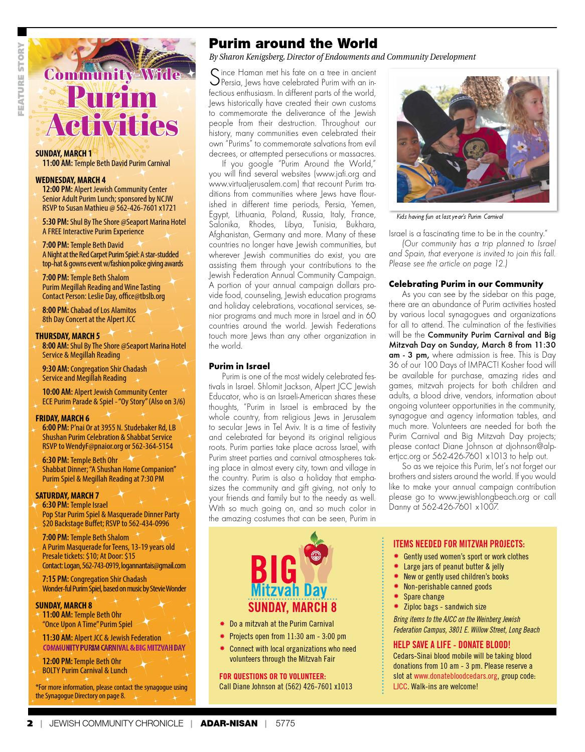 Jewish Community Chronicle - Purim Issue by Jewish Federation of ...