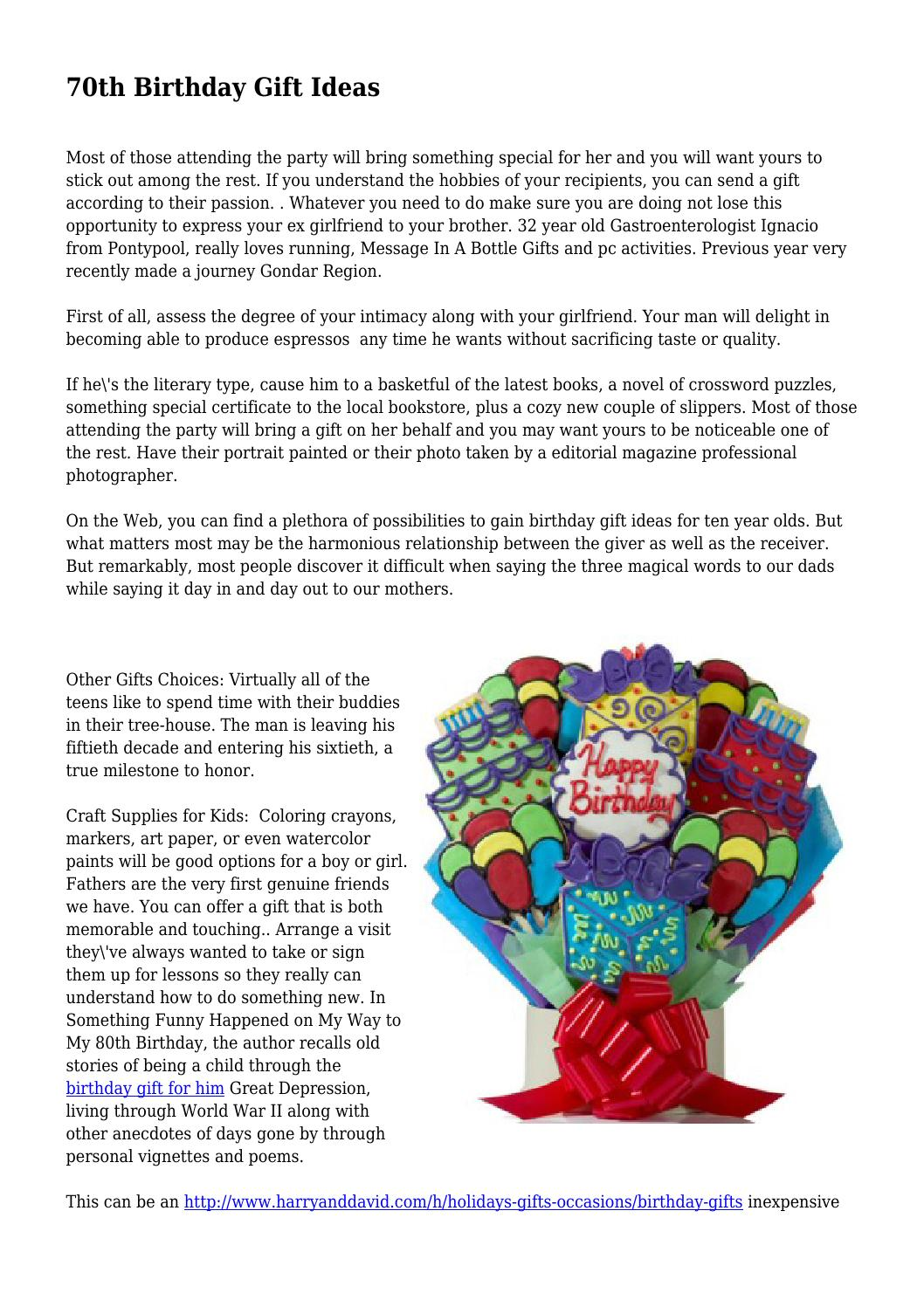 70th Birthday Gift Ideas By Quickgimmick1113