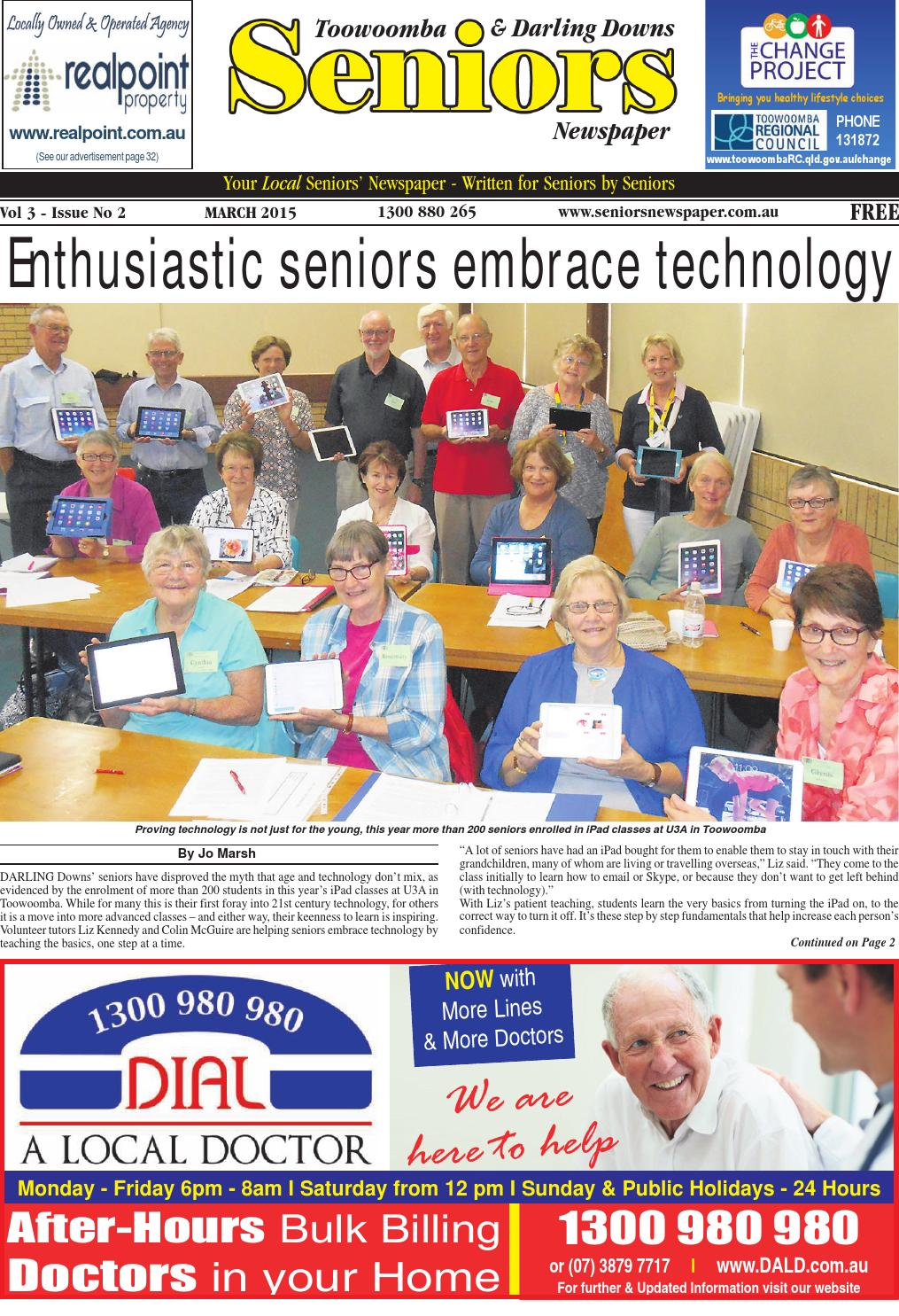 Toowoomba Darling Downs Seniors Newspaper March 2015 By Seniors Issuu