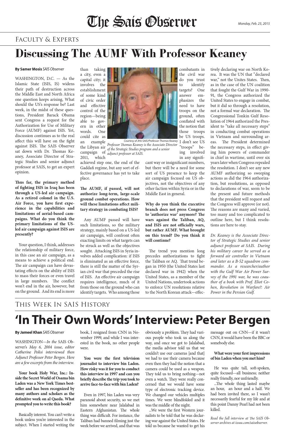 Tso 2015 02 23 volume 17 issue 12 by The SAIS Observer - issuu