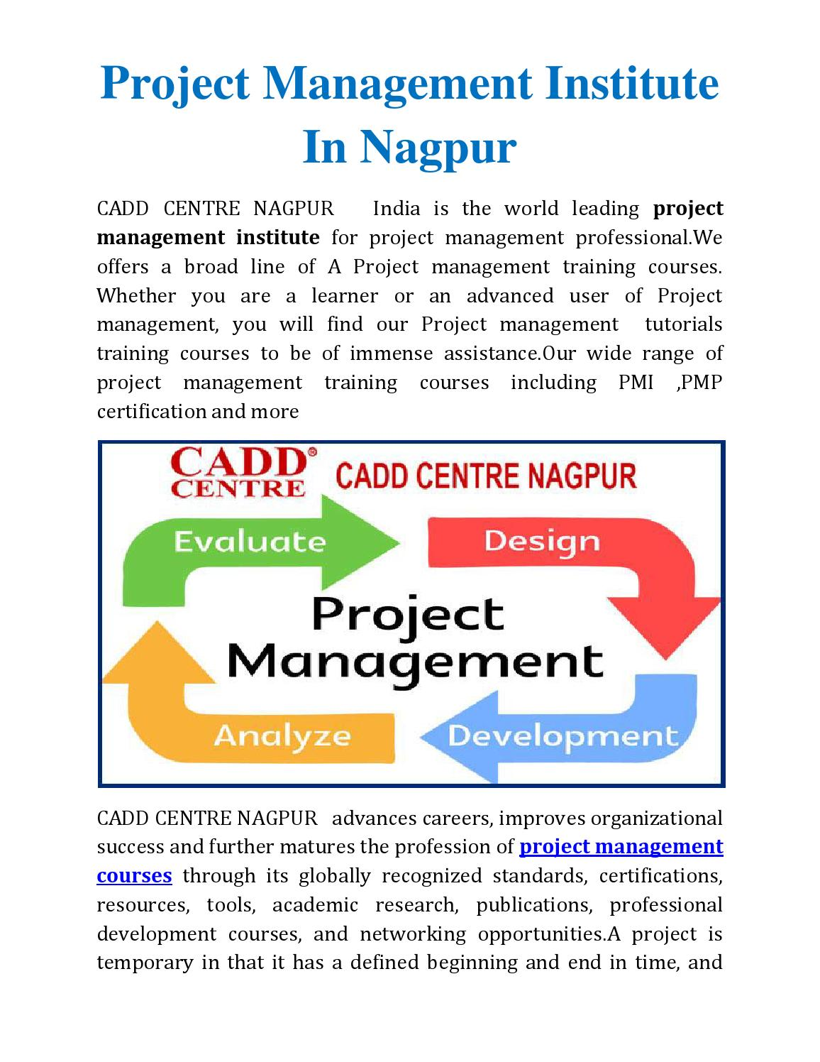 Project Management Institute In Nagpur By Caddcentrengp Issuu