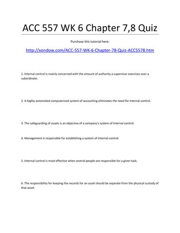 Acc 557 chapter 5 manual